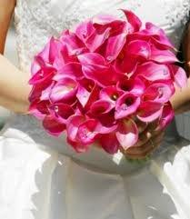 Classic Pink Mini Calla Lily Wedding Bouquet