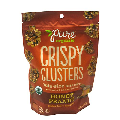 Pure Organic Crispy Clusters, Bite Size Snacks, Honey Peanut, 5 Ounce