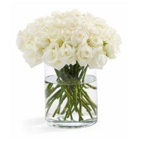 100 Fresh White Roses | 50 cm. long (20″) Free shipping