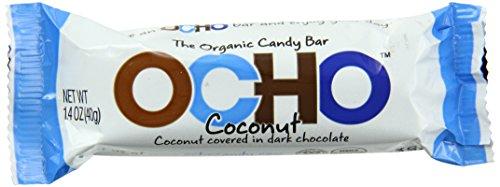 OCHO Organic Candy Bar, Coconut, 1.5 Ounce (Pack of 18)