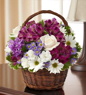 1-800-Flowers – Peace, Prayers, & Blessings- Lavender and White – Small