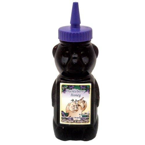 Wild Huckleberry Honey 12 Ounce Bottle – Enjoy Gourmet Clover Honey Mixed With Wild Huckleberry Juice!