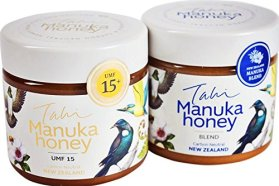 Manuka Honey 2pack UMF 15+ and Manuka Blend. Eco-friendly, raw and pure 2 x 400gram jars (14.1oz jars) by Tahi