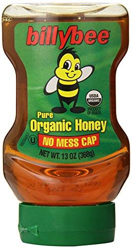 Billy Bee Organic Liquid Honey Upside Down Squeeze, 13 Ounce
