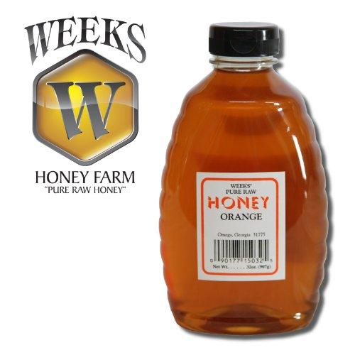 32oz (2lbs) – Orange Blossom Honey – Pure, Raw, Unfiltered, Unheated