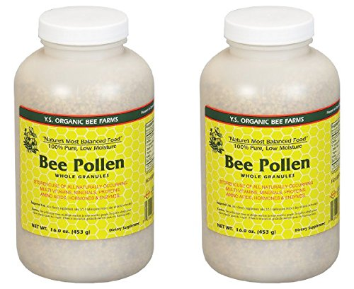 Bee Pollen – Low Moisture Whole Granulars YS Eco Bee Farms 16 oz Granular (2 pack)