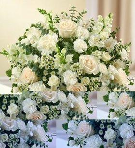 1-800-Flowers – Cherished Memories – All White – Medium