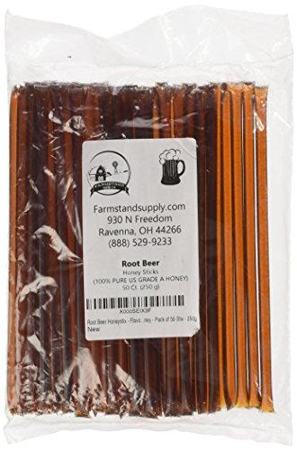 Root Beer Honeystix – Flavored Honey – Pack of 50 Stix – 250g