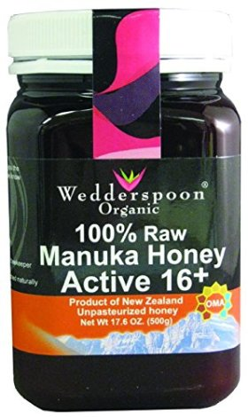 Wedderspoon Organic – Manuka Honey 100% Raw Organic Unpasteurized Active 16+ – 17.6 oz. ( Multi-Pack)