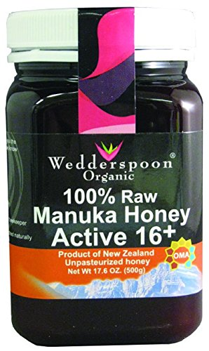 Wedderspoon Organic – Manuka Honey 100% Raw Organic Unpasteurized Active 16+ – 17.6 oz. ( Multi-Pack)