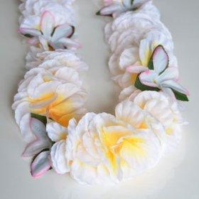 Premium Hawaiian Lei – Paradise Petunia w/ Orchids in White