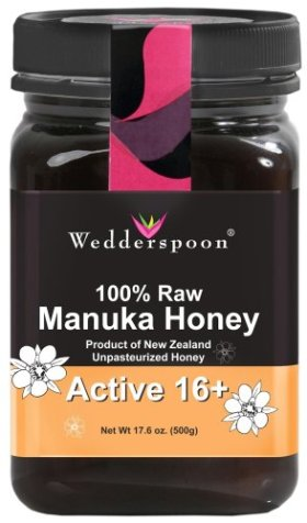 Wedderspoon Raw Manuka Honey Active 16+ 17.6-Ounce Jar