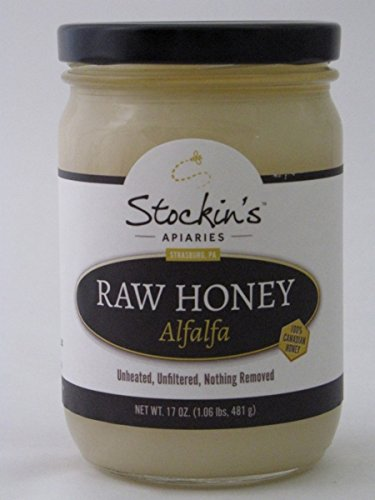 Stockin's Unheated and Unfiltered Raw Alfalfa Honey, 17 Oz. Jar