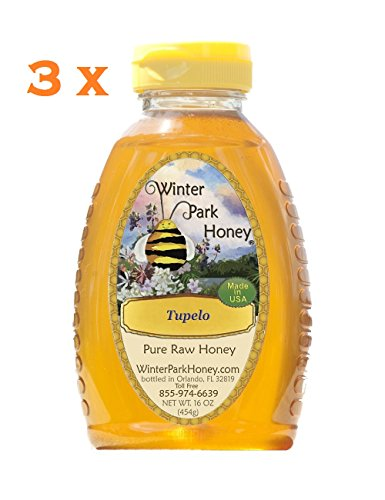 Tupelo Honey 48oz (Raw Honey – 3 x 16oz Winter Park Honey – Tupelo)