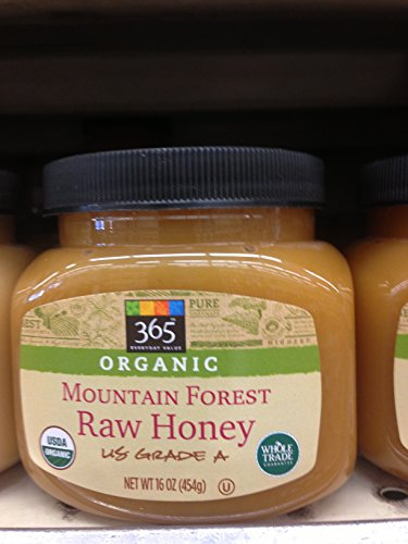 365 Everyday Value Organic Mountain Forest Raw Honey (Pack of 2)