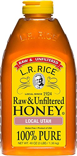 L.R. Rice Raw & Unfiltered Honey, Local Utah, 48 oz