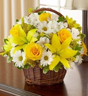 1-800-Flowers – Peace, Prayers, & Blessings- Yellow and White – Large