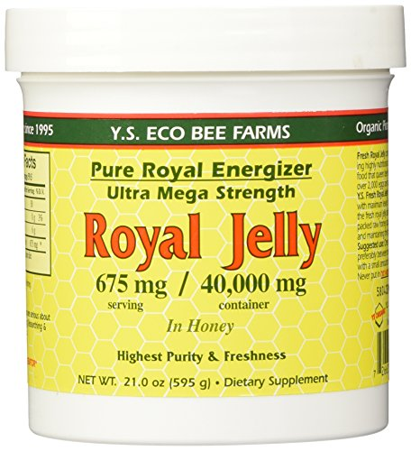 YS Royal Jelly/Honey Bee – Royal Jelly In Honey Ultra Strength, 21 oz gel (Pack of 2)