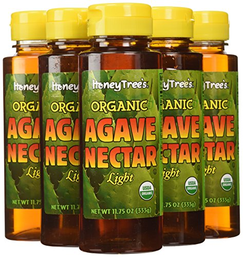 HoneyTree's Organic Agave Nectar-Light, 11.75-Ounce (Pack of 6)