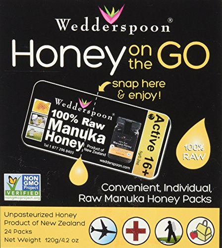 Wedderspoon 100% Raw Manuka Honey KFactor (24 pack)