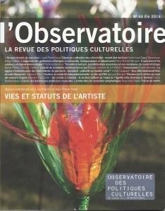 Flowers 2.0 en couverture du magazine l'Observatoire