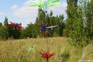 Flowers of Change de Pierre Estève, exposée à Sevran lors des Rendez-vous aux Jardins