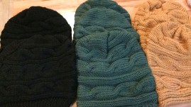 Black and green slouchy hats