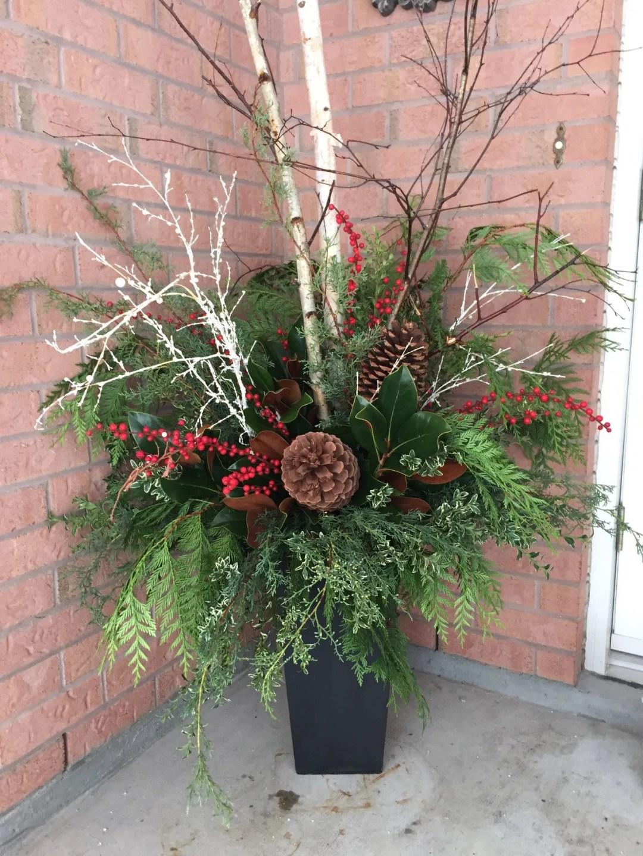 Outdoor Winter Urn