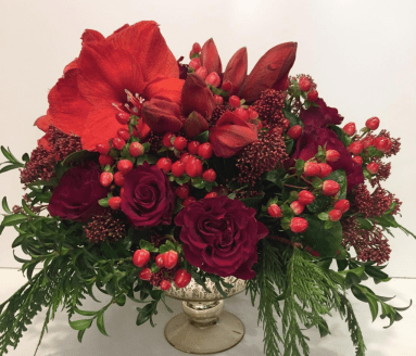 complementary coloured flowers