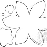 Daffodil Paper Flower Cut Out
