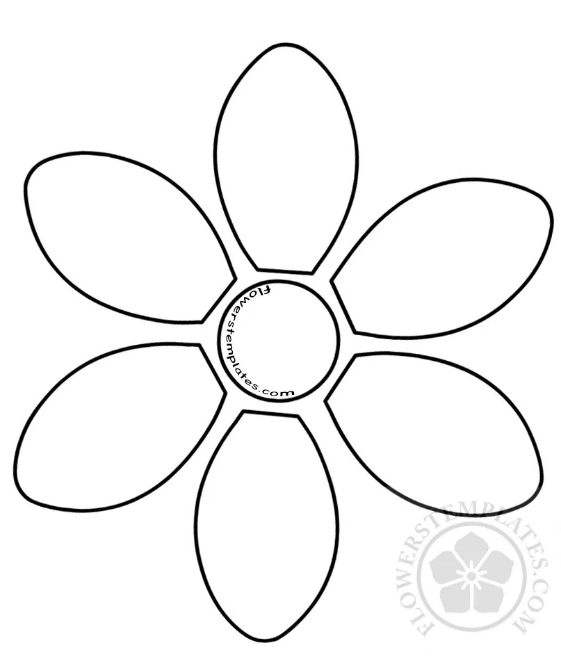6 Petal Flower Template2 Flowers Templates