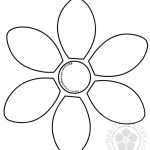 6 Petal Flower Template