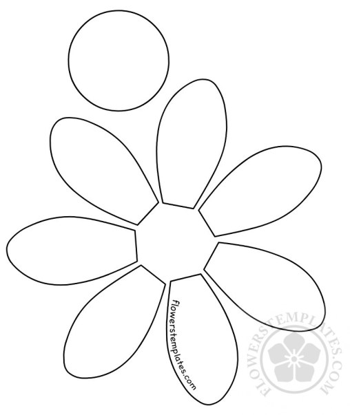 Daisy flowers templates part 2 for Daisy cut out template