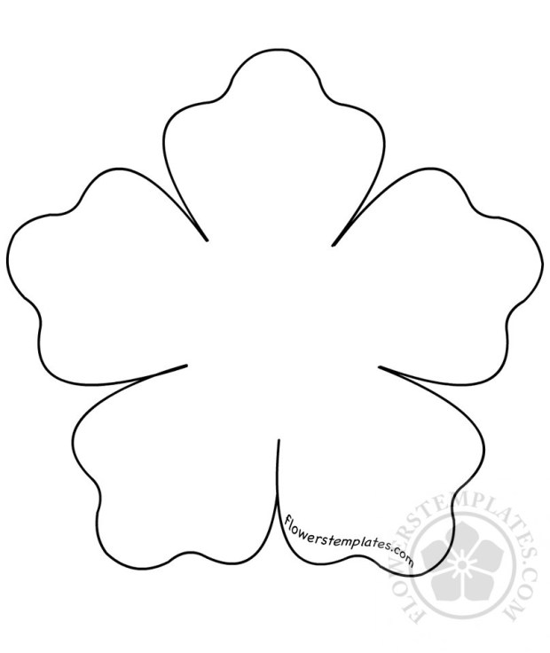 Five petal flower patterns flowers templates for Flower template 5 petals