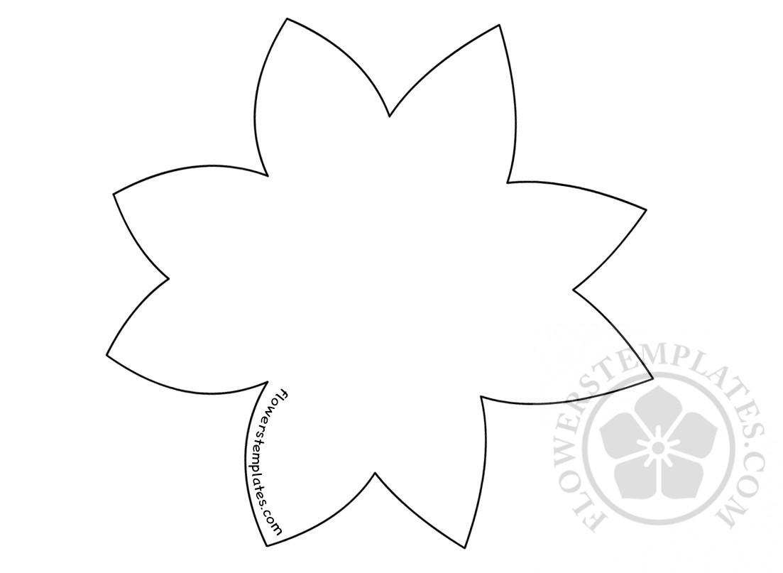 Star Flower Shape Template Stencil