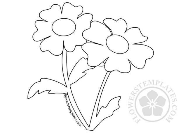 Daisies Flower Garden Coloring Sheets