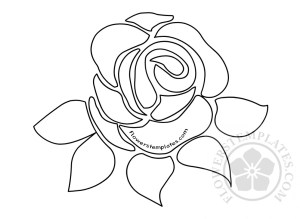 rose template rose paper flower flowers templates