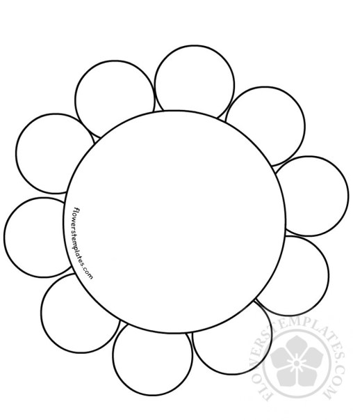 Daisy flowers templates for Daisy cut out template