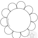 Flower Daisy 10 petal template