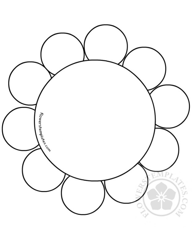 flower daisy 10 petal template flowers templates