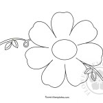 Flower Ornament template