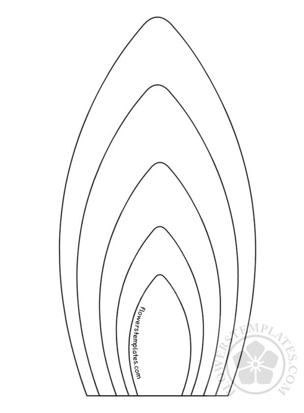 sunflower petal template