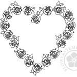 Valentine Card Flower Roses Heart Frame