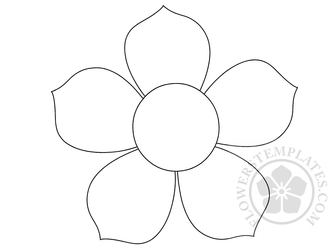 5 Petal Flower Pattern Flowers Templates