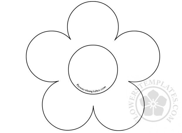 Five Petal Flower Template Flowers Templates