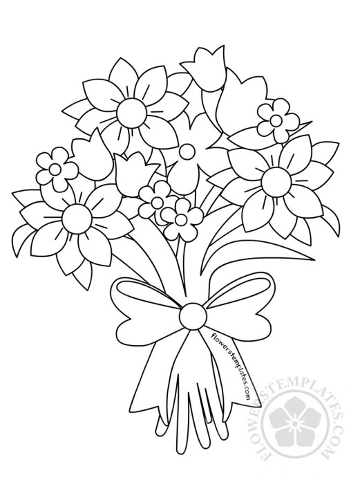 printable coloring pages flowers bouquet - photo#27
