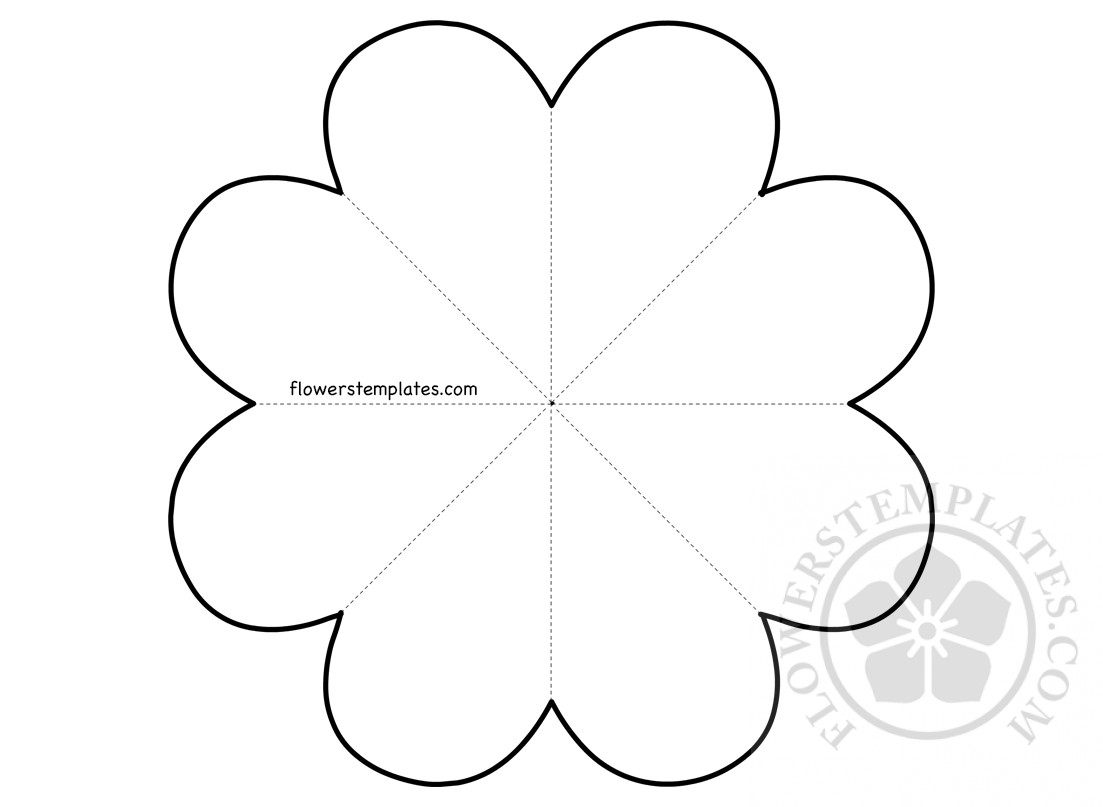 Paper Flower And Heart Pattern Flowers Templates