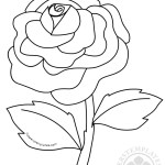 Rose Flower Coloring Pages Kids