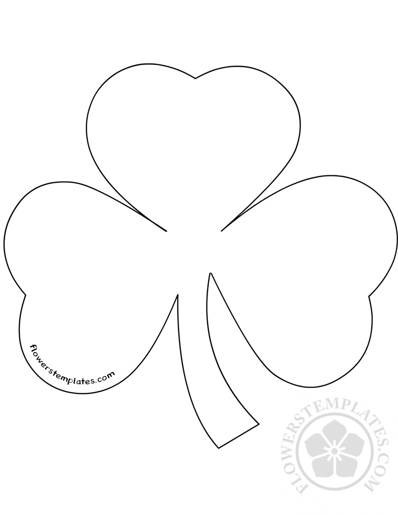 image regarding Shamrock Template Printable named Shamrock Template Printable for craft Bouquets Templates