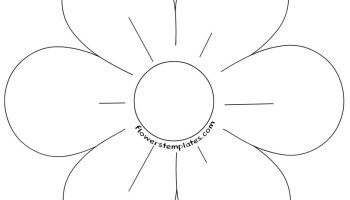 Poppy flower template coloring page flowers templates 6 petal flower template coloring page maxwellsz